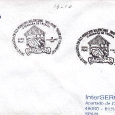 Sellos: SOBRE: 1996 BENISSA. SALUD I MALALTIA EN ELS MUNICIPIS VALENCIANS - HIGIENE I SALUBRITAT. Lote 195328465