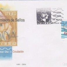 Sellos: EDIFIL 4114, 150 AÑOS DE LA PRIMERA EMISION DE SELLOS DE FILIPINAS, PRIMER DIA DE 6-9-2004. Lote 84724176