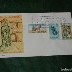 Sellos: ESPAÑA - BIMILENARIO FUNDACION CACERES 1967 EDIFIL 1827-1829 PRIMER DIA SFC MADIRD. Lote 84974512