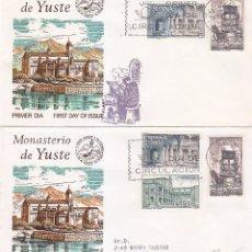 Sellos: RARA VARIEDAD MONASTERIO DE YUSTE CACERES 1965 (EDIFIL 1686/87) EN RARO SOBRE PRIMER DIA FLASH. MPM. Lote 85154176