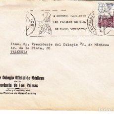 Sellos: SOBRE: 1982 LAS PALMAS DE G. C. ILUSTRE COLEGIO OFICIAL DE MEDICOS. Lote 195328113