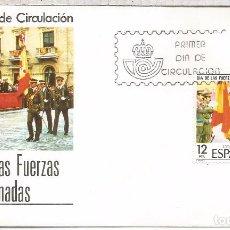 Sellos: ESPAÑA SPD DIA DE LAS FUERZAS ARMADAS 1981 BANDERA . Lote 87166076