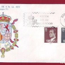 Sellos: ESPAÑA 30 ENERO 1981 SOBRE PRIMER DIA DE CIRCULACION SERIE BASICA DE S. M. EL REY GRUPO 5. Lote 87353144