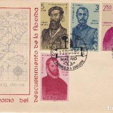 Sellos: SOBRE: 1960 MADRID. IV CENTENARIO DEL DESCUBRIMIENTO DE LA FLORIDA. Lote 195082902