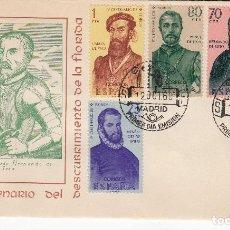 Sellos: SOBRE: 1960 MADRID. IV CENTENARIO DEL DESCUBRIMIENTO DE LA FLORIDA. Lote 195082865