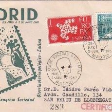 Sellos: MEDICINA OTORRINOLARINGOLOGIA CONGRESO, MADRID 1962. RARO MATASELLOS MANUEL VICENTE GARCIA SOBRE DP.. Lote 89863812