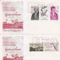 Sellos: FORJADORES DE AMERICA 1967 (EDIFIL 1819/26) EN TRES SOBRES PRIMER DIA DE ALFIL. RAROS ASI.. Lote 10937399