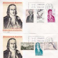 Sellos: FORJADORES DE AMERICA 1967 (EDIFIL 1819/26) EN TRES SOBRES PRIMER DIA DEL SERVICIO FILATELICO.. Lote 20830379