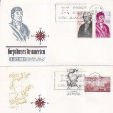 Sellos: FORJADORES DE AMERICA 1967 (EDIFIL 1819/26) EN CUATRO SOBRES PRIMER DIA MUNDO FILATELICO. RAROS ASI.. Lote 35300555