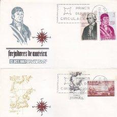 Sellos: FORJADORES DE AMERICA 1967 (EDIFIL 1819/26) EN CUATRO SOBRES PRIMER DIA MUNDO FILATELICO. RAROS ASI.. Lote 91305095