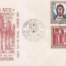 Sellos: RELIGION ARTE ROMANICO CONSEJO EUROPA VII EXPOSICION, BARCELONA 1961 MATASELLOS RARO SOBRE ILUSTRADO. Lote 92988845