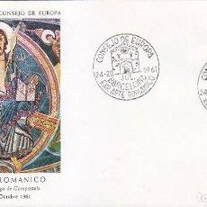 Sellos: RELIGION ARTE ROMANICO CONSEJO EUROPA VII EXPOSICION, BARCELONA 1961. MATASELLOS EN SOBRE DE ALFIL.. Lote 92989685