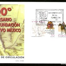 Sellos: SOBRE PRIMER DIA 400º ANIV. DE LA FUNDACION DE NUEVO MEXICO. 1998. Lote 93008120