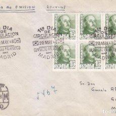 Sellos: GENERAL FRANCO 1948 (EDIFIL 1021 SEIS SELLOS) EN SOBRE PRIMER DIA CIRCULADO. LLEGADA. RARO ASI.. Lote 25161690