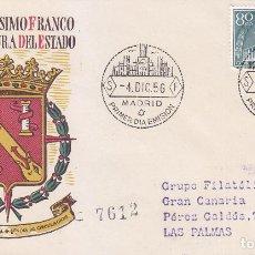Sellos: GENERAL FRANCO XX ANIVERSARIO EXALTACION A JEFATURA ESTADO 1956 (EDIFIL 1199) EN SPD CIRCULADO SFC.. Lote 94647940