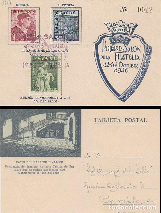 EDIFIL 1002/4, FIESTA HISPANIDAD UNIVERSIDAD SALAMANCA, BARTOLOME DE LAS CASAS PRIMER DIA 12-10-1946 (Sellos - Historia Postal - Sello Español - Sobres Primer Día y Matasellos Especiales)