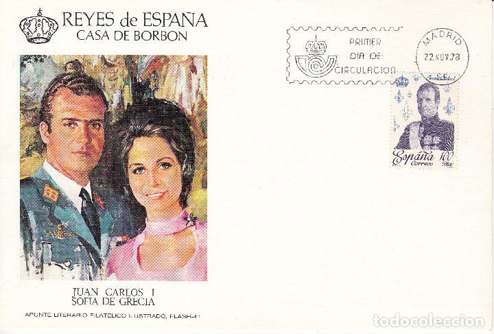 10 TARJETAS: 1978 MADRID. REYES DE ESPAÑA - CASA DE BORBON - ALFIL - TIRADA 1250 EJEMPLARES (Sellos - Historia Postal - Sello Español - Sobres Primer Día y Matasellos Especiales)