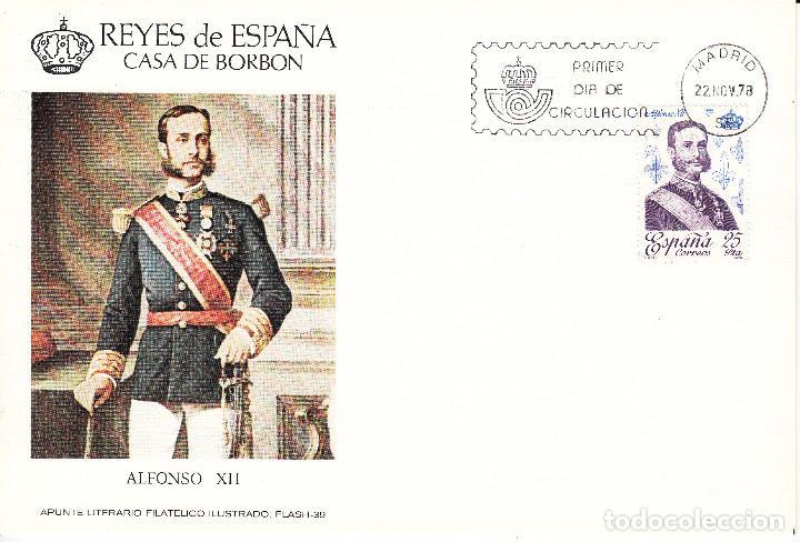 Sellos: 10 TARJETAS: 1978 MADRID. REYES DE ESPAÑA - CASA DE BORBON - ALFIL - TIRADA 1250 EJEMPLARES - Foto 4 - 95610095