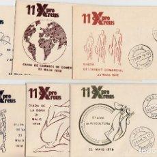 Sellos: LOTE MATASELLOS EN 22 SOBRES DISTINTOS EXPRO REUS 1978 . Lote 95614327