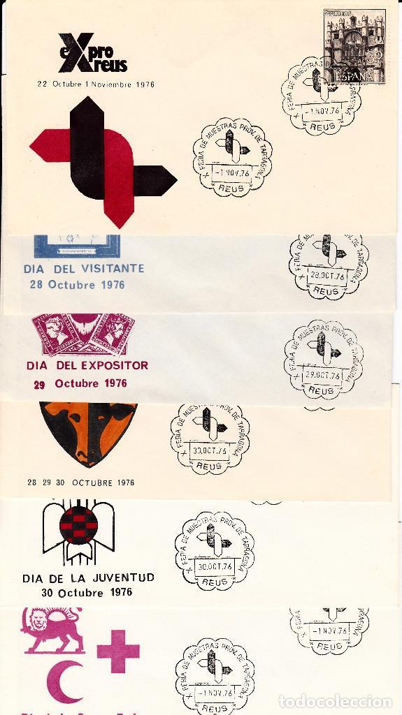LOTE MATASELLOS CONMEMORATIVOS EN 22 SOBRES DISTINTOS EXPRO REUS 1976 (Sellos - Historia Postal - Sello Español - Sobres Primer Día y Matasellos Especiales)