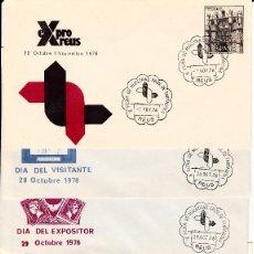 Sellos: LOTE MATASELLOS CONMEMORATIVOS EN 22 SOBRES DISTINTOS EXPRO REUS 1976. Lote 95614819