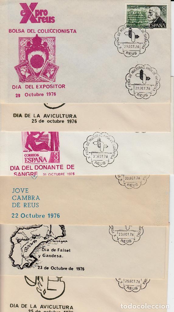 Sellos: LOTE MATASELLOS CONMEMORATIVOS EN 22 SOBRES DISTINTOS EXPRO REUS 1976 - Foto 2 - 95614819