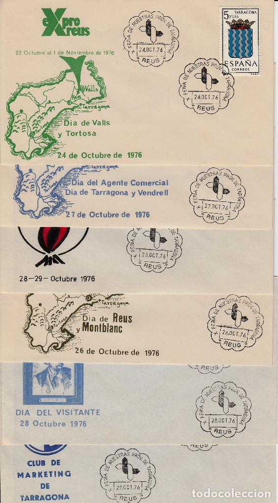 Sellos: LOTE MATASELLOS CONMEMORATIVOS EN 22 SOBRES DISTINTOS EXPRO REUS 1976 - Foto 3 - 95614819
