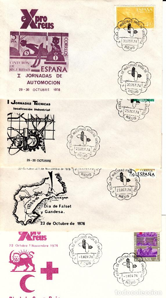 Sellos: LOTE MATASELLOS CONMEMORATIVOS EN 22 SOBRES DISTINTOS EXPRO REUS 1976 - Foto 4 - 95614819