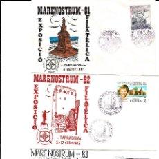 Sellos: MATASELLOS TARRAGONA -LOTE 6 MATASELLOS MARENOSTRUM DE 1981 A 1986 --BARCOS--. Lote 95627215