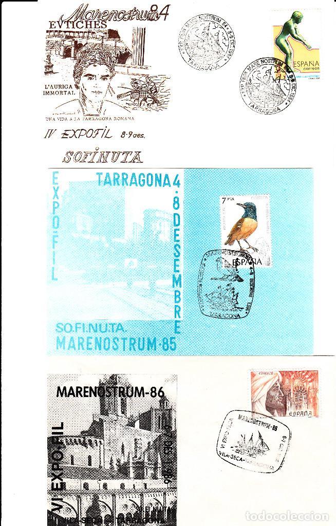 Sellos: MATASELLOS TARRAGONA -LOTE 6 MATASELLOS MARENOSTRUM DE 1981 A 1986 --BARCOS-- - Foto 2 - 95627215
