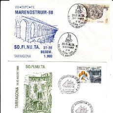 Sellos: MATASELLOS TARRAGONA -LOTE 6 MATASELLOS MARENOSTRUM DE 1988 A 1993 --BARCOS--. Lote 95630863