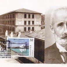 Sellos: COLEGIO MAESTRO ZUBELDIA 75 ANIVERSARIO, PORTUGALETE (VIZCAYA) 2000. RARO MATASELLOS BONITA TARJETA.. Lote 95767655