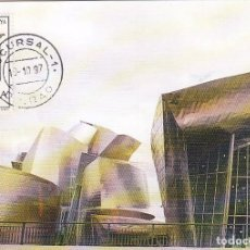 Sellos: 18 OCTUBRE 1997 SM EL REY JUAN CARLOS I INAUGURA EL MUSEO GUGGENHEIM, BILBAO (VIZCAYA). RARA TARJETA. Lote 95898675