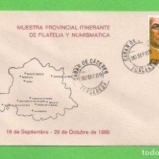 Sellos: MUESTRA PROVINCIAL ITINERANTE DE FILATELIA - ''EL BROCENSE'' (1989). - CÁCERES - EDIFIL 3028.. Lote 96032891