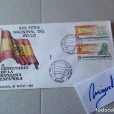 Timbres: ED Nº 2791/2 AÑO 1985 - XVII FERIA DEL SELLO , II CENTENARIO DE LA BANDERA - SOBRE PRIMER DÍA FLASH. Lote 97399303