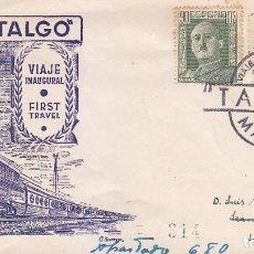 Sellos: TRENES FERROCARRIL TALGO VIAJE INAUGURAL, MADRID 1950. RARO MATASELLOS EN SOBRE CIRCULADO DE DP.. Lote 22818260