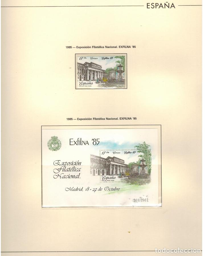 Sellos: ESTUCHE ESPECIAL PAQUETE CON 24 HOJAS EDIFIL DE LA EXFILNA-1985 - Foto 2 - 97829515