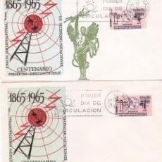 Sellos: RARA VARIEDAD TELECOMUNICACIONES CENTENARIO UNION INTERNACIONAL 1965 (EDIFIL 1670) EN SPD FLASH MPM. Lote 98120367