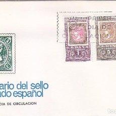 Sellos: CENTENARIO DEL PRIMER SELLO DENTADO 1965 (EDIFIL 1689/91) EN SOBRE PRIMER DIA DE ARRONIZ.. Lote 98502279