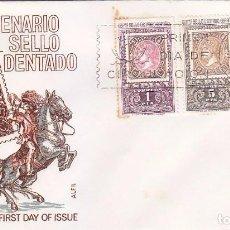 Sellos: CENTENARIO DEL PRIMER SELLO DENTADO 1965 (EDIFIL 1689/91) EN SOBRE PRIMER DIA DE ALFIL.. Lote 98502387