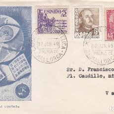 Sellos: EXPOSICION FILATELICA, PALMA DE MALLORCA (BALEARES) 12 JUNIO 1949. MATASELLOS SOBRE EDICION OFICIAL. Lote 98506999