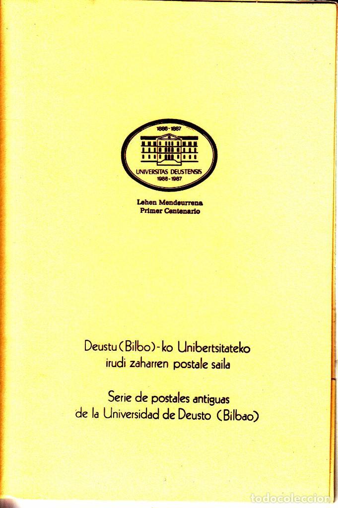 8 POSTALES: 1987 BILBAO. CENTENARIO UNIVERSIDAD DE DEUSTO (Sellos - Historia Postal - Sello Español - Sobres Primer Día y Matasellos Especiales)