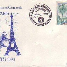 Timbres: CONCORDE TENERIFE - PARIS 1990. Lote 189604075