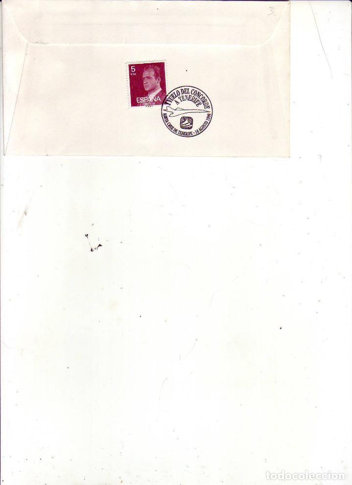 Sellos: vuelo concorde tenerife paris 1990 - Foto 2 - 189604078