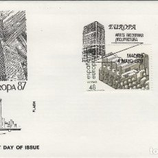Sellos: ED Nº 2904/5 AÑO 1987- EUROPA ARTES MODERNAS , ARQUITECTURA - SOBRE PRIMER DÍA FLASH . Lote 99751467