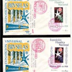 Sellos: SPD EXPOSICIÓN FILATÉLICA UNIVERSAL BRUSELAS 1958 NUMS.1222-1223 HB. Lote 101086315