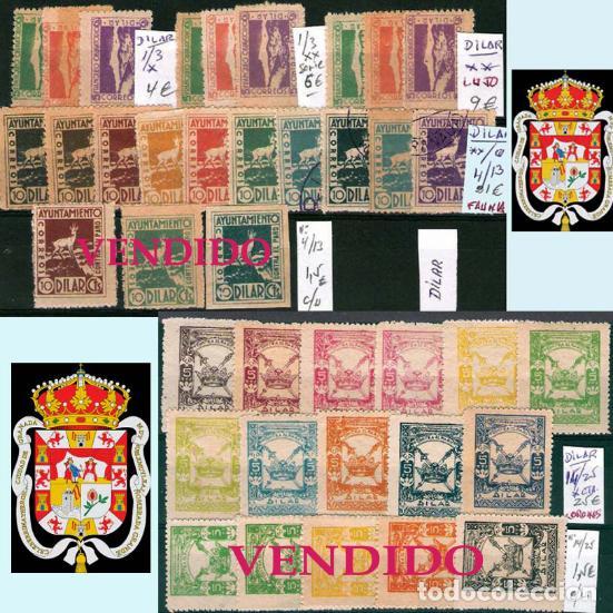 Sellos: GRANADA Y PROV.- H. POSTAL, MATASELLOS, LOCALES Y PATRIOTICOS. P.V. 7.819 €.VER 14 FOTOS.CONDICIONES - Foto 2 - 31678711