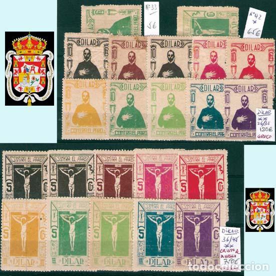 Sellos: GRANADA Y PROV.- H. POSTAL, MATASELLOS, LOCALES Y PATRIOTICOS. P.V. 7.819 €.VER 14 FOTOS.CONDICIONES - Foto 3 - 31678711