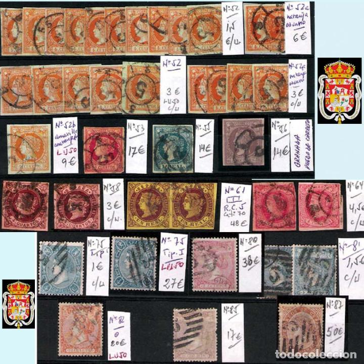 Sellos: GRANADA Y PROV.- H. POSTAL, MATASELLOS, LOCALES Y PATRIOTICOS. P.V. 7.819 €.VER 14 FOTOS.CONDICIONES - Foto 6 - 31678711
