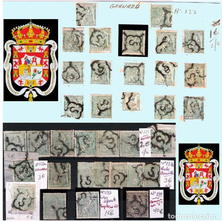 Sellos: GRANADA Y PROV.- H. POSTAL, MATASELLOS, LOCALES Y PATRIOTICOS. P.V. 7.819 €.VER 14 FOTOS.CONDICIONES - Foto 8 - 31678711